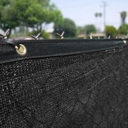 Clevr Privacy Fence Screen Mesh Fabric Windscreen Shade, Black, 6' x 50'