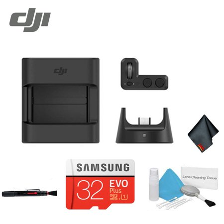 DJI Osmo Pocket Gimbal Expansion Kit Bundle - (Controller Wheel + Wireless Module + Accessory Mount + 32GB microSD Card) + (Camera Expansion Kit)