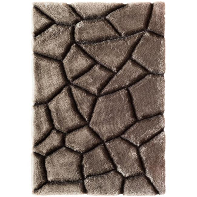 Magna Stepping Stones 100 Percent Polyester Rug, Grey 7 ft. 10 in. x 9 ft. 10 in. by JensenDistributionServices