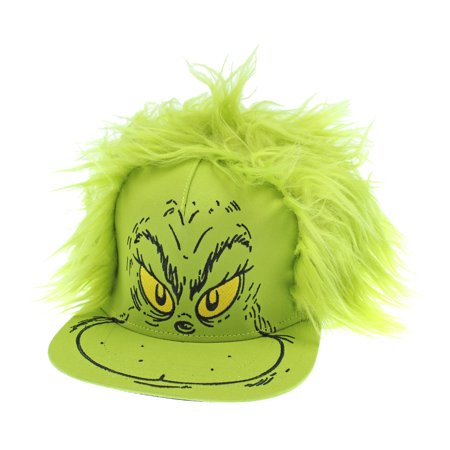 Dr. Seuss Hat Grinch Fur Hair Costume Snapback
