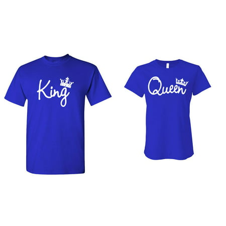 KING and QUEEN - HIS and HER Cute T-Shirt Combo Pack](His And Hers Halloween Outfits)