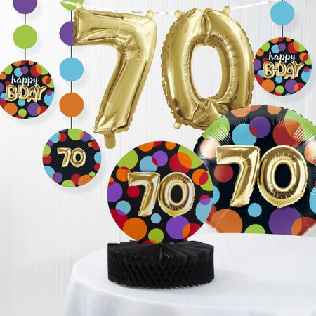 The Party Aisle Balloon 70th Birthday Decorations Kit (Set of 7)