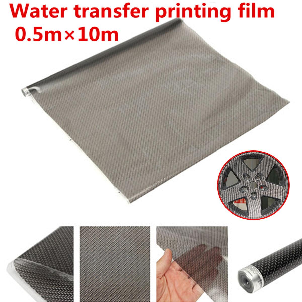 05m X 10m Black Pva Carbon Fiber Water Transfer Printing Film Hydrodipping