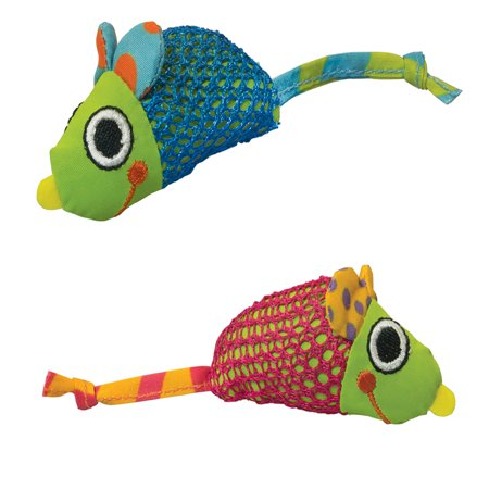 Mouse Catnip Toy ((2 Pack) Petstages Catnip Mice Cat Toy )