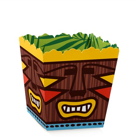 Tiki Luau - Party Mini Favor Boxes - Tropical hawaiian Baby Shower or Birthday Party Treat Candy Boxes - Set of 12 - Tiki Party Ideas