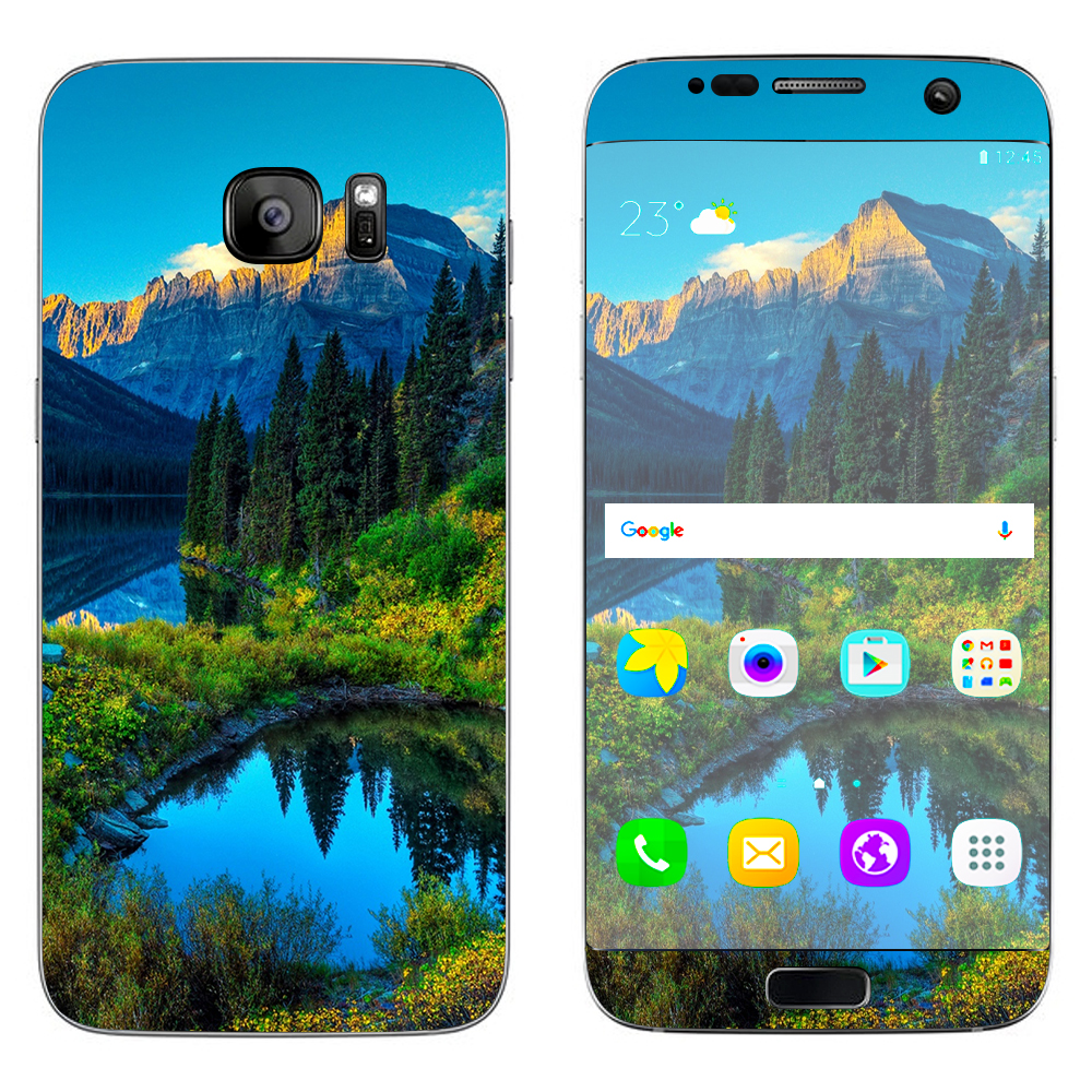 Skins Decals For Samsung Galaxy S7 Edge / Mountain Lake