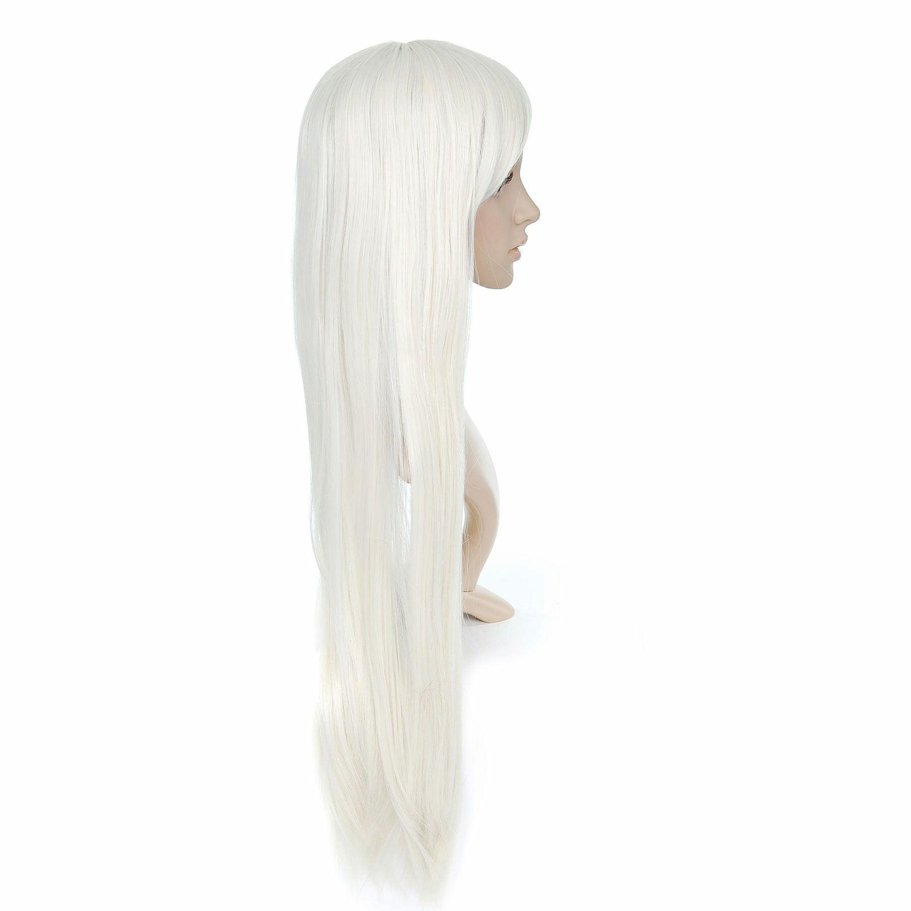 Cream Long Length Anime Cosplay Costume Wig