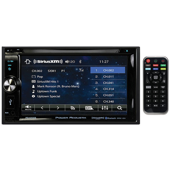 "Power Acoustik PD-625XB 6.2"" Incite Double-DIN In-Dash Detachable LCD Touchscreen DVD Receiver with Bluetooth (SiriusXM Ready)"