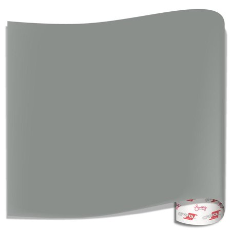 Basic Grey 12x12 Inch Paper - Oracal 651 Glossy Vinyl Sheets - Middle Grey