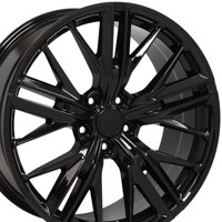 OE Wheels 20 Inch ZL1 Style | Fits Chevy Camaro | CV25 Gloss Black 20x8.5 Rims, Ironman iMove Gen2 Tires, and OEM Quality TPMS - SET