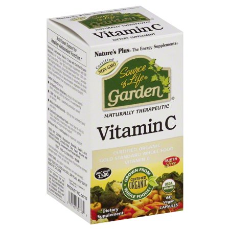 Natural Organics Laboratories Natures Plus Source of Life Garden Vitamin C, 60