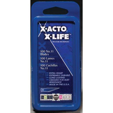 Elmers X-acto Refill Blades (X-Acto Bulk Pack Knife Blades, #11)