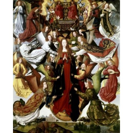 Mary Queen of Heaven - The St Lucy Legend Master of the St Lucy Legend Oil on Wood Panel National Gallery of Art Washington DC USA Poster Print