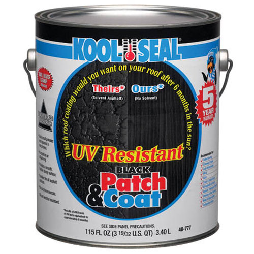 Kool Seal UV Resistant Black Patch & Coat