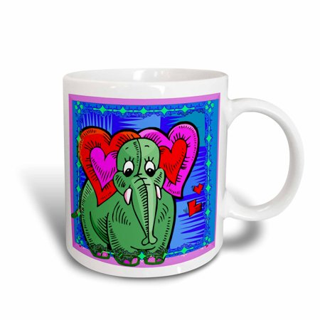 3dRose The elephant in the room kids art, Ceramic Mug, - Kids Ceramic