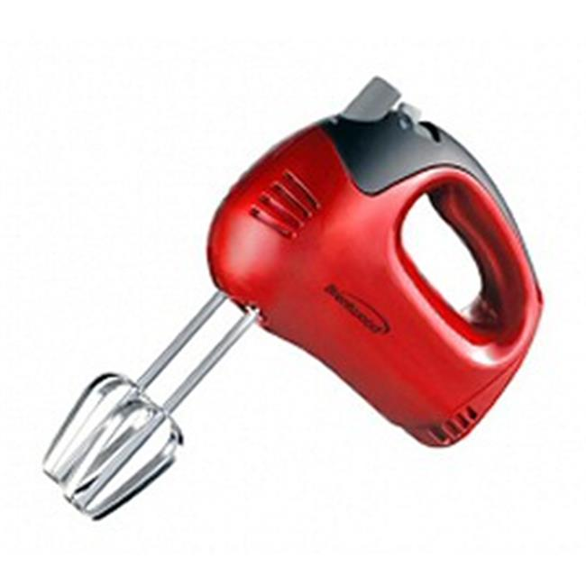 Brentwood Appliances HM-46 RED 5 Speed Hand Mixer