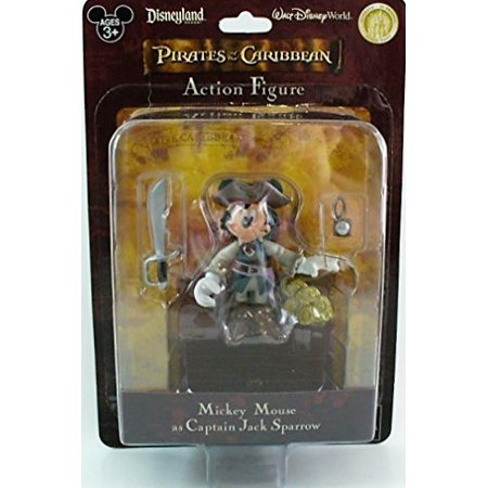 Disney Pirates of the Caribbean Mickey Mouse as Captain Jack Sparrow Disney Parks Exclusive (Disney Jack And The Neverland Pirates)