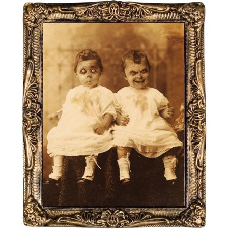 Morris Costumes Portraits Twins 17 X 21 Plastic Decorations & Props, Style MR122179 - Twin Costumes
