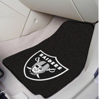 "Oakland Raiders 2-pc Carpeted Car Mats 17""x27"""