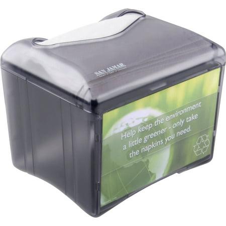 San Black Dispenser (San Jamar, SJMH4005TBK, Tabletop Full-fold Napkin Dispenser, 1 Each, Black)