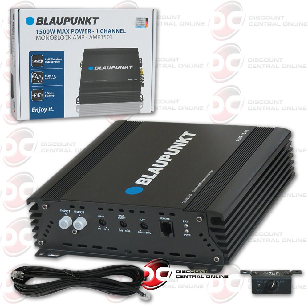 Blaupunkt AMP7502 750 Watts 2 Channel Full Range Amplifier
