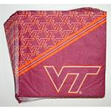 - Virginia Tech Hokies Beverage Napkins