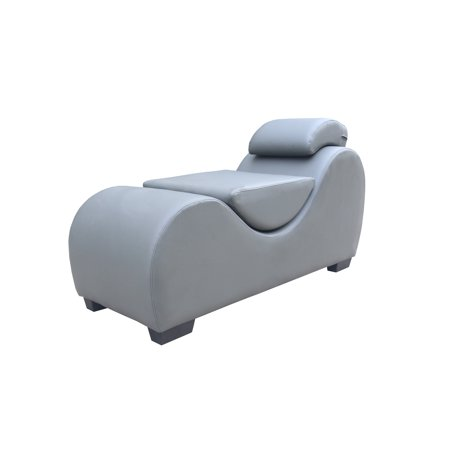 Kingway Faux Leather Yoga & Stretch Relax Chaise Grey