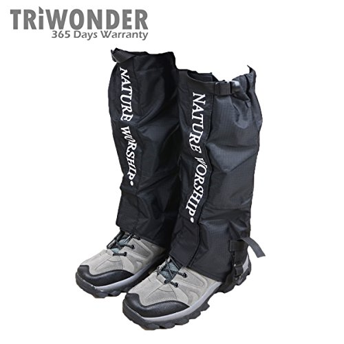 Triwonder 1 Pair Unisex Outdoor Snow Leg Gaiters Leggings...