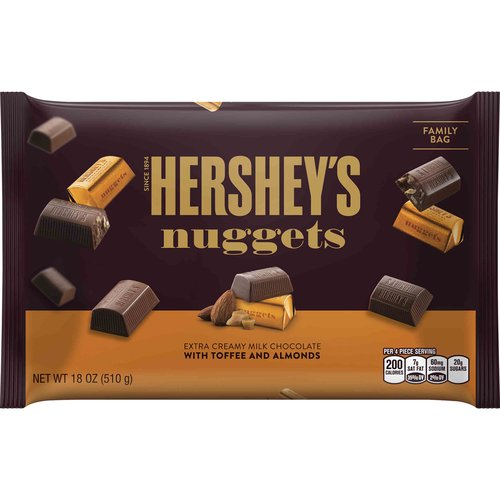 Hershey's Nuggets Extra Creamy Milk Chocolate with Toffee & Almonds, 18 oz