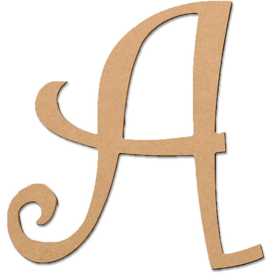 """5"""" Curly Letter A, 1 Each"""