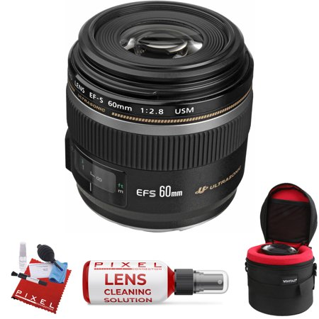 Canon EF-S 60mm f/2.8 Macro USM Lens with Heavy Duty Lens