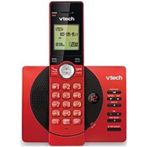 VTech CS6929-16 Expandable Cordless Phone with Answering System and Caller ID Call Waiting DECT 6.0 Red by