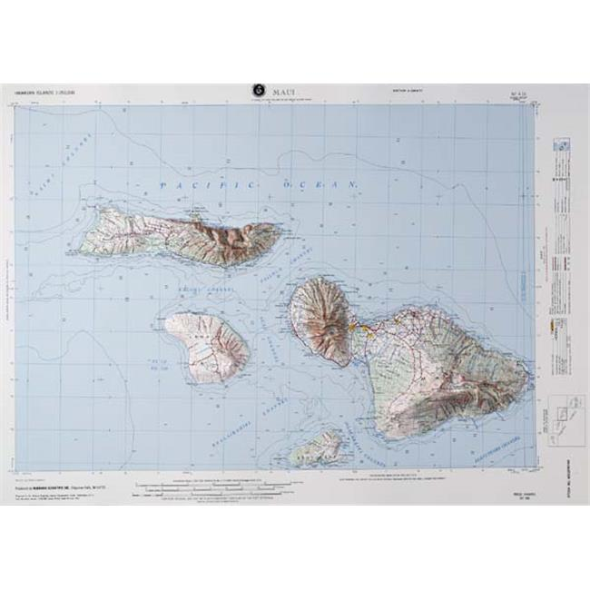 American Educational Products Nf416 Maui,Hawaii Map