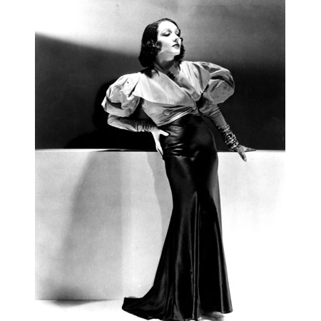 Lupe Velez Wearing Blue Satin Skirt With Red Taffeta Jacket 1933 Photo Print
