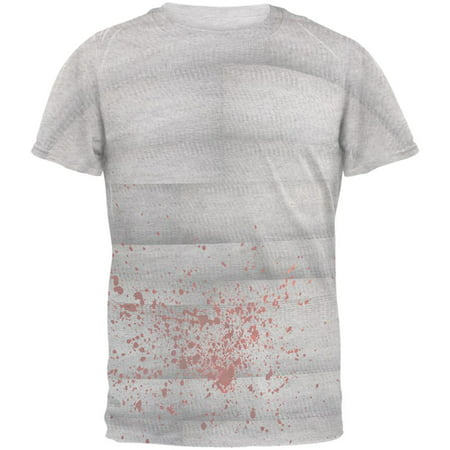 Halloween Bloody Mummy Mens T Shirt - Halloween Food Mummy Dogs