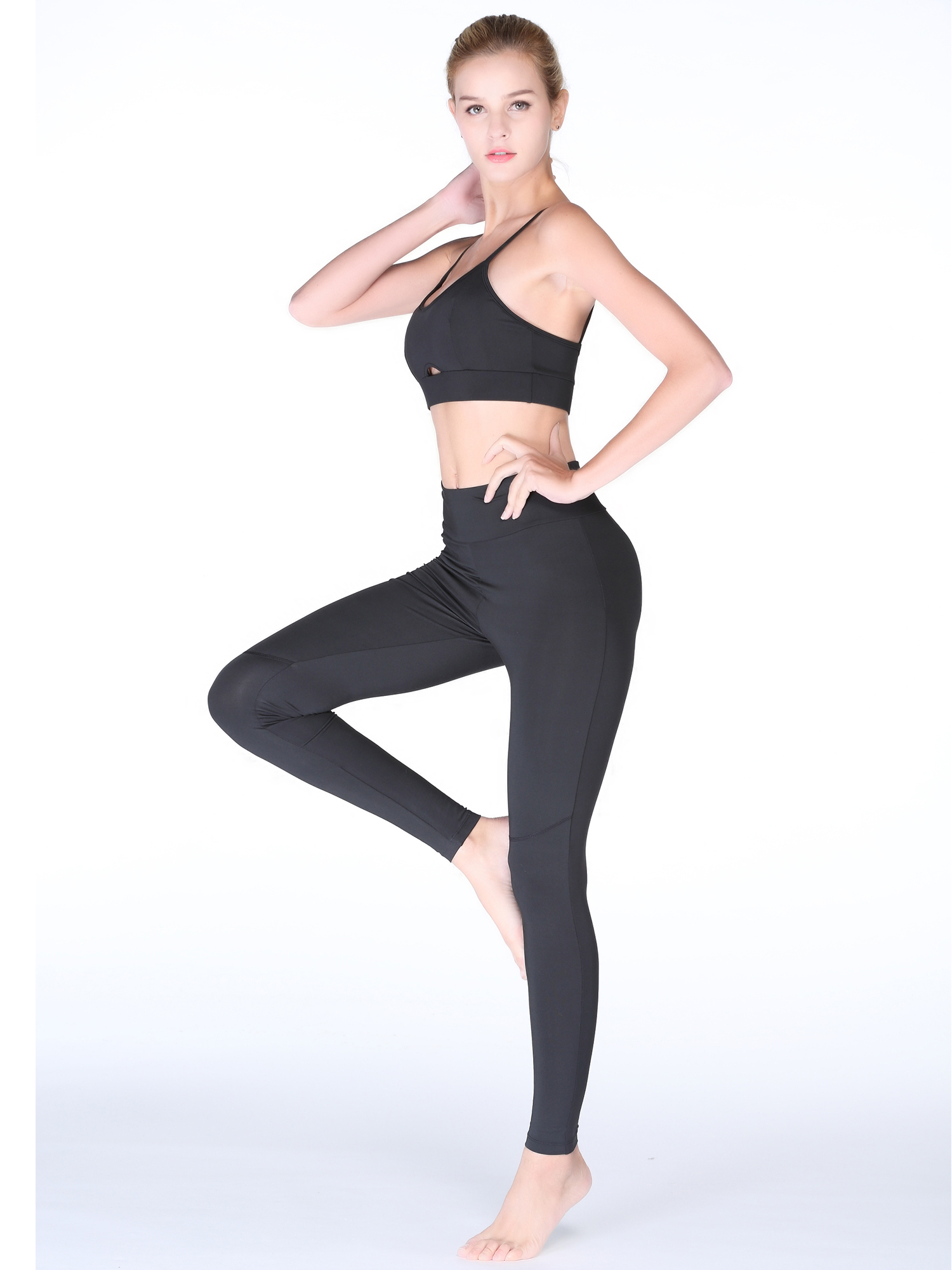 Sport Suit Two Pieces Gym Yoga Clothing High Waist Leggings Workout Women