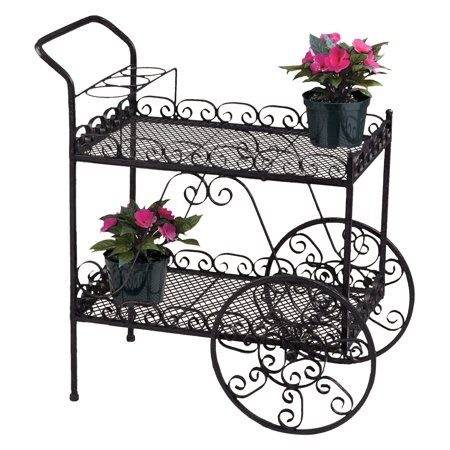 Deer Park Steel Teacart, Black (Plant Bench)