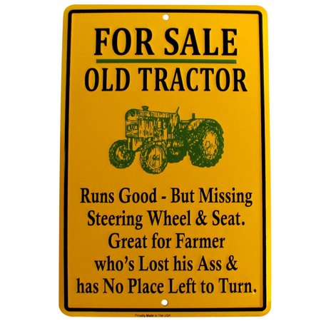 Novelty Bar Items (For Sale Old Tractor Funny Tin Sign US Made Novelty Garage Shop Bar Wall)