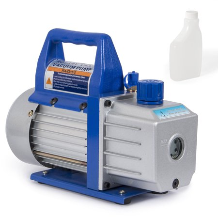 Arksen Rotary Vane Deep Vacuum Pump, 110v, 1/3HP, 4 CFM