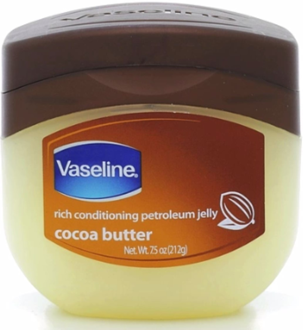 Vaseline Rich Conditioning Petroleum Jelly, Cocoa Butter 7.5 oz (Pack of 4)