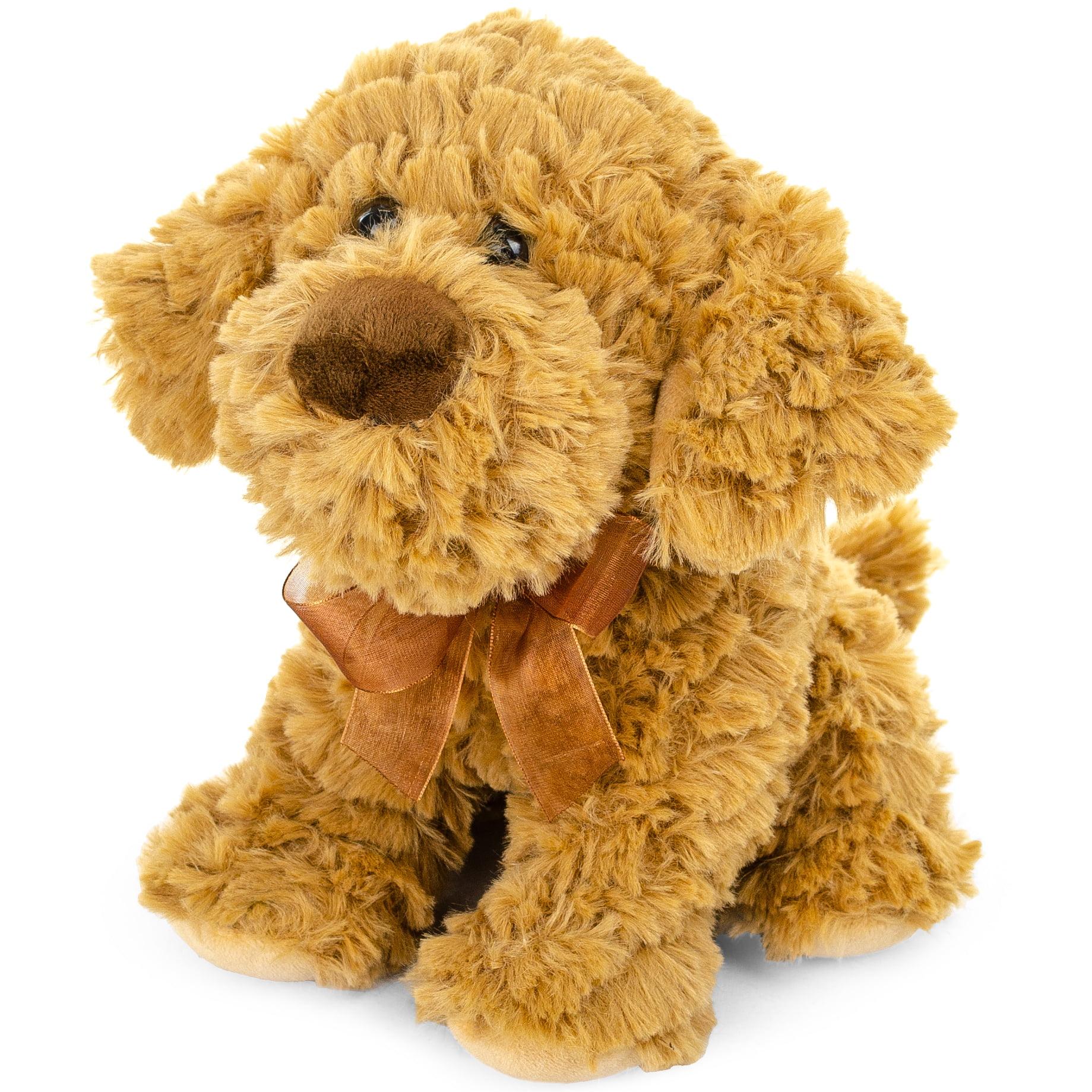 Plush Sitting Shaggy Cockapoo Dog Stuffed Animal Toy