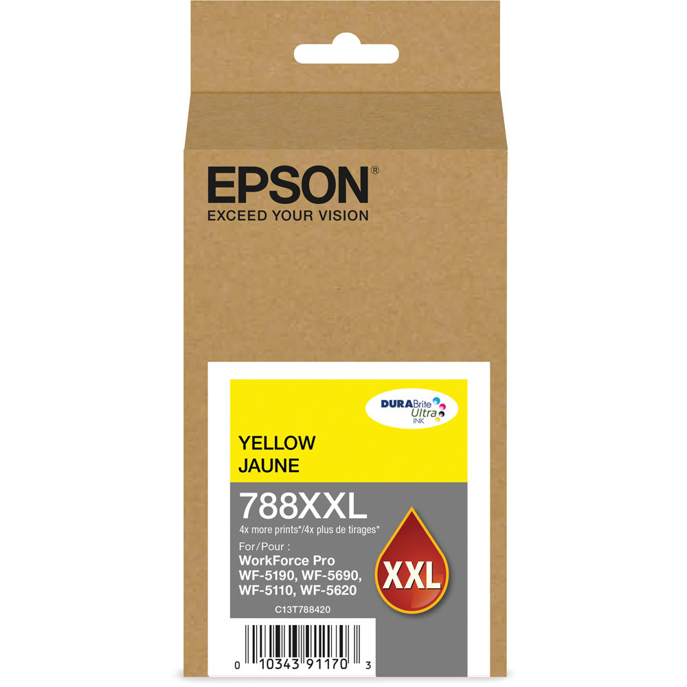 Epson T788XXL420 (788XXL) DURABrite Ultra Extra High Capacity Yellow Ink by Epson