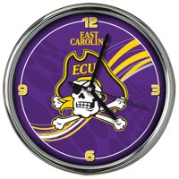 "11.5"" Purple and Yellow NCAA East Carolina Pirates Dynamic Chrome Wall Clock"