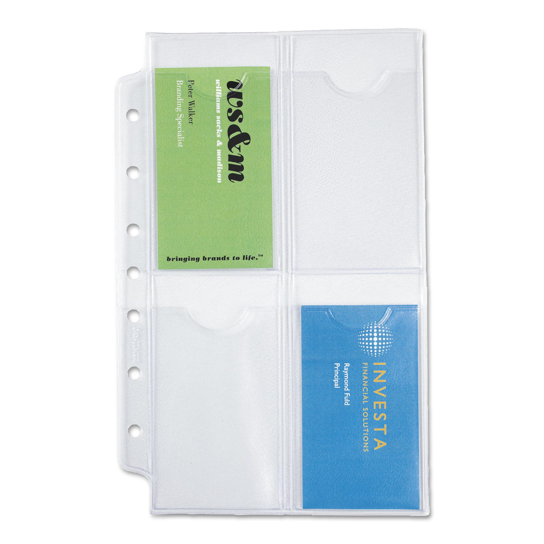 Day-Timer Business Card Holders For Looseleaf Planners, 5 1/2 X 8