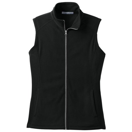 Port Authority Women's Lightweight Microfleece Zipper Vest (Buffalo Plaid Vest Women)