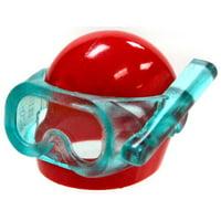 6ae78ea7 Product Image LEGO LEGO City Red Helmet with Trans-Light Blue Visor Scuba  Diver Mask