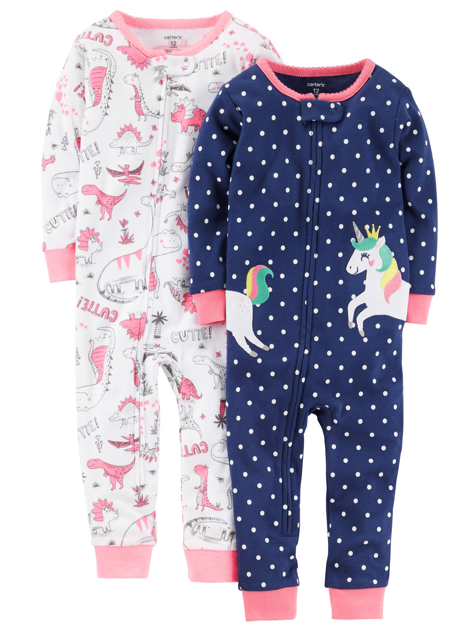 6ec0ee2fdc Child of Mine by Carter s - Carters Toddler Girl Footless Pajamas