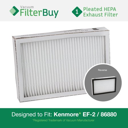 Kenmore Ef 2 86880 Exhaust Vacuum Hepa Filter  Designed By Filterbuy To Replace Sears Kenmore Part   20 86880  86880   40320  Ef2  610445  Also Replaces Panasonic Mc V194h