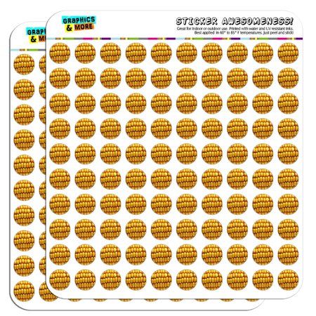 "Corn on the Cob Kernels 1/2"" (0.5"") Scrapbooking Crafting Stickers"