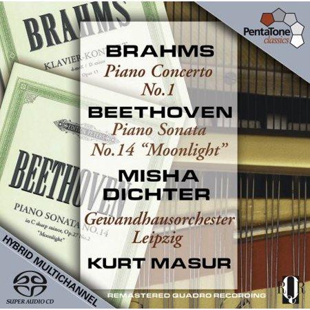 Brahms/Beethoven - Brahms: Piano Concerto No. 1; Beethoven: Piano Sonata No. 14 'Moonlight' [SACD]